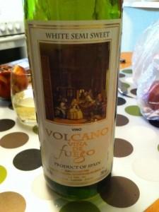 Volcano De Fuego White Semi Sweet
